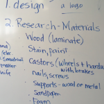 brainstorm list of materials