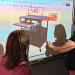 smartboard drawing of cart