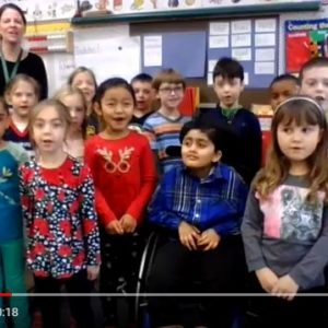 Ms. Maggio's 1st Grade Class on Western Mass News Morning Message – Jan 8, 2018