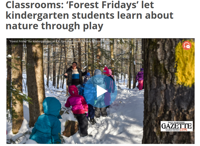 Forest Fridays Highlighted in the Gazette!