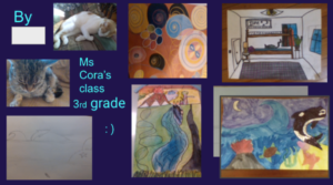 art collage from elementary students