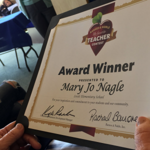 A week of Awards for Leeds Elementary Teachers – Hannah Kristek and Mary Jo Nagle