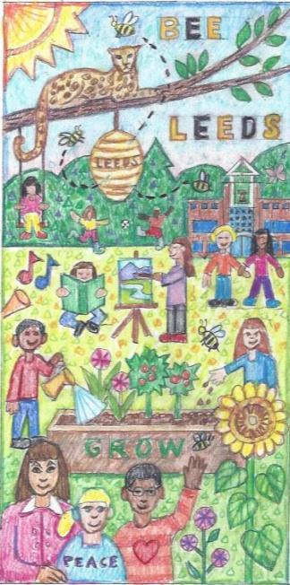 Leeds Mosaic Drawing