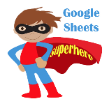 picture of superhero with words Google Sheets Superhero