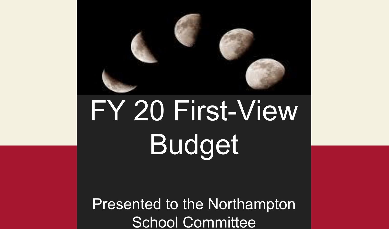 Budget presentation Cover