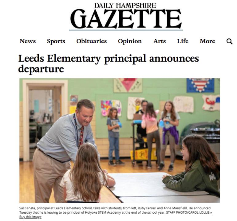 Principal Canata announces his departure