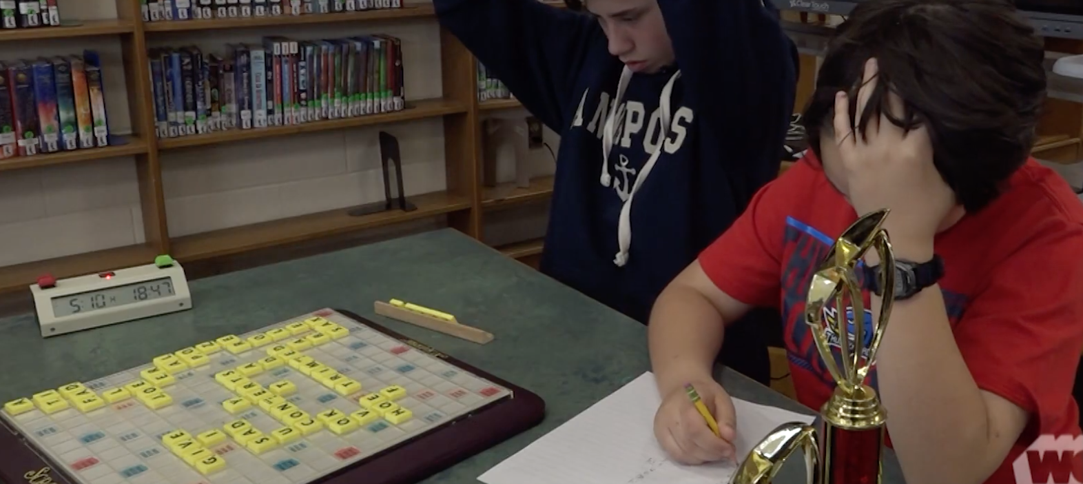 JFK's Scrabble Club makes the News