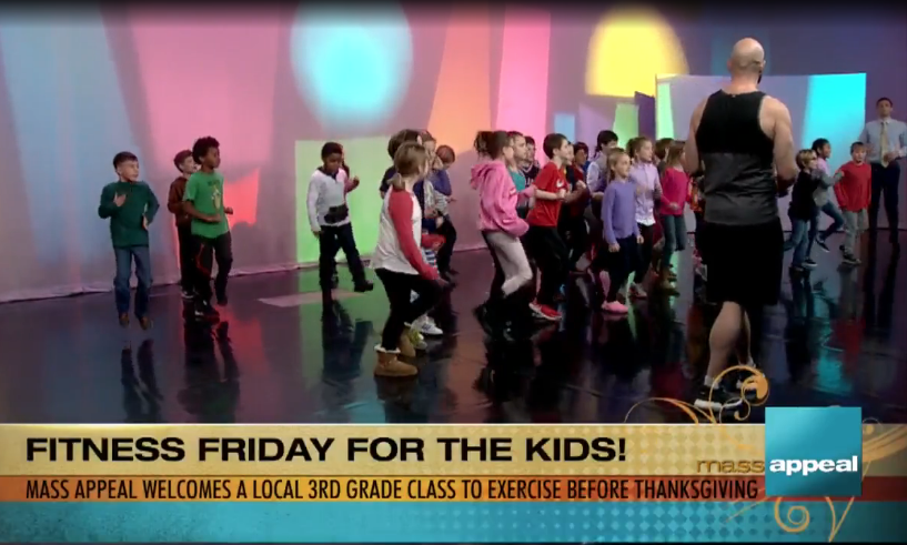Ryan Road Elementary School's third grade class joins Fitness Friday on Mass Appeal