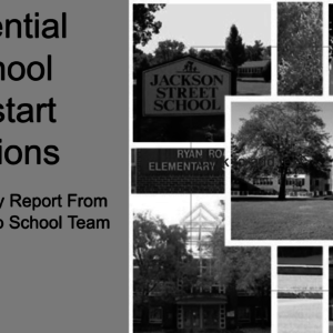 Potential School Reopening Options