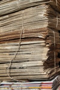 newspapers stacked up.. old